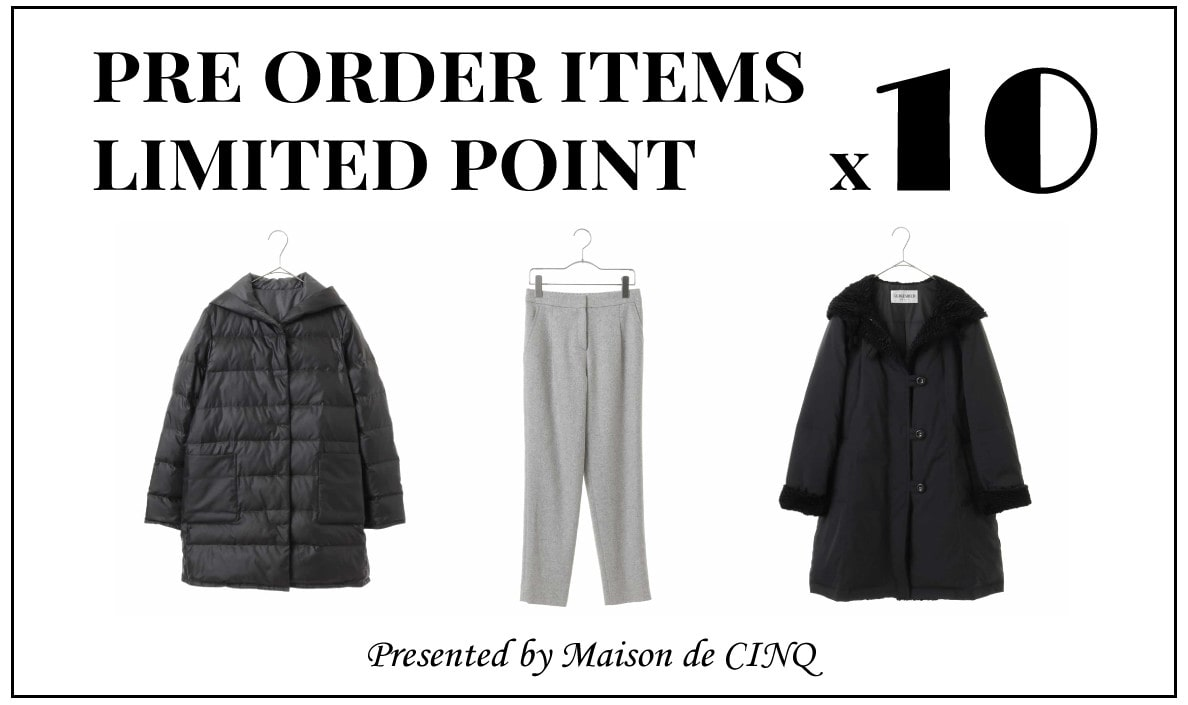 【Maison de CINQ】PRE ORDER ITEMS POINT x10