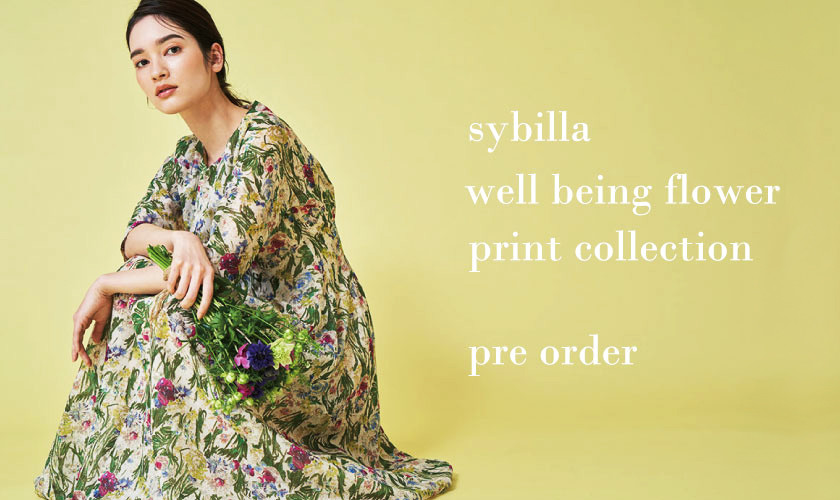 【Sybilla】well being flower print collection -pre order -