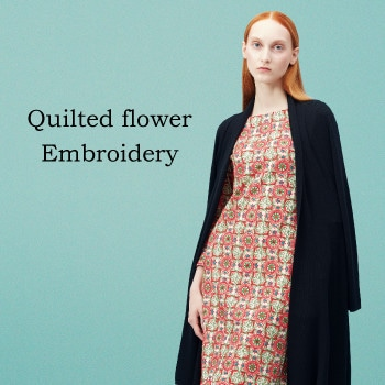 【Sybilla】Quilted flower embroidery