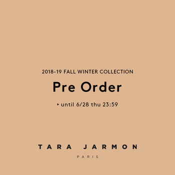 【2018-19 FALL-WINTER COLLECTION】PRE-ORDER