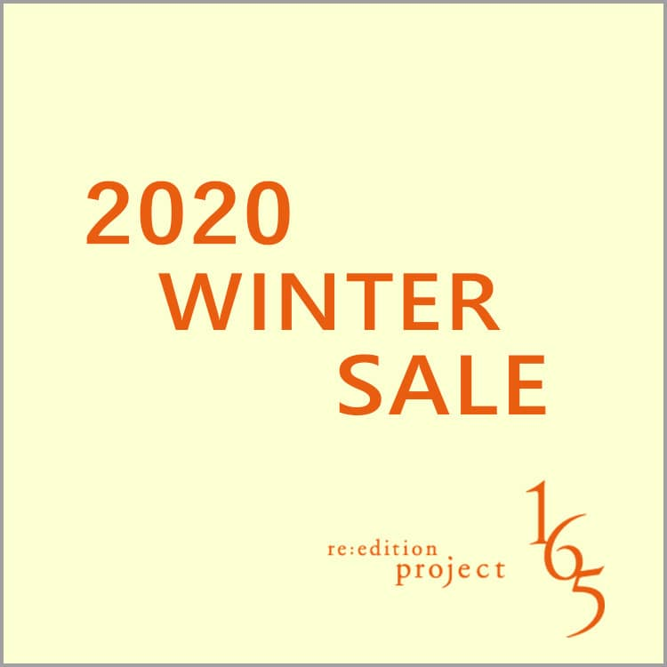 2020 WINTER SALE 開催【re:edtion project 165】
