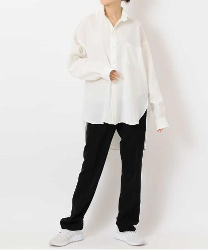 "OVERSIZED WHITE MEN'S SHIRT & FRONT-AND-BACK-SEAM ""PAJAMA SWEAT"" PANTS"