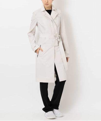 "LIGHT WEIGHT CRISP ""PAPER"" POLYESTER TRENCH COAT"