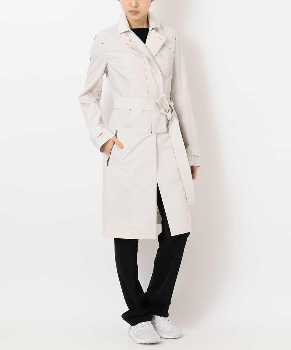 "re:edition project 165 LIGHT WEIGHT CRISP ""PAPER"" POLYESTER TRENCH COAT"