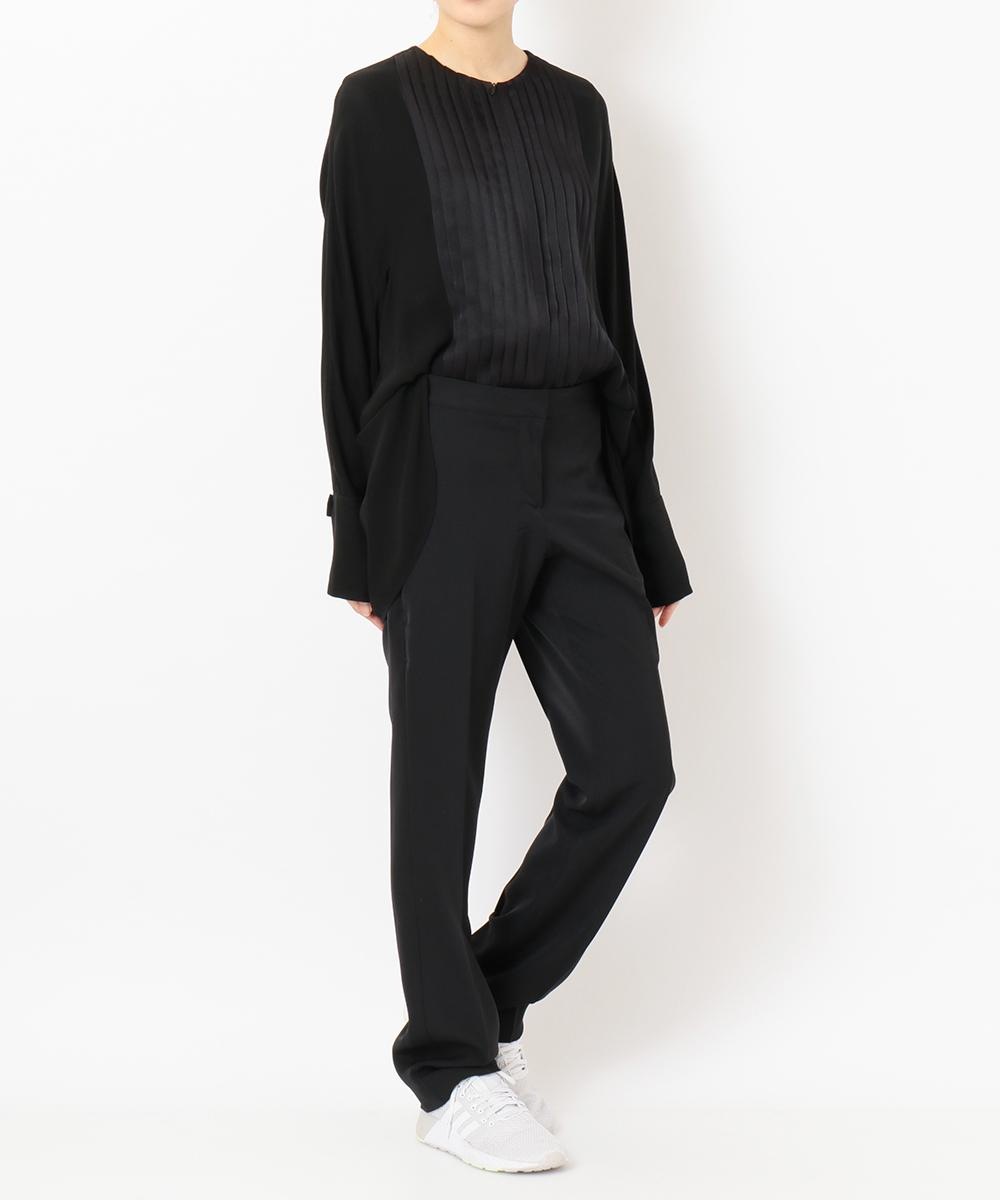 "re:edition project 165 TUXEDO PLEATED FRONT COLLARLESS BLOUSE&SKINNY MENS ""TUXEDO PANTS"""