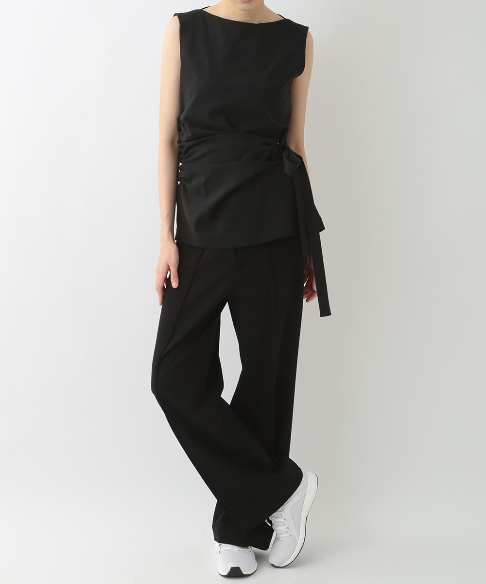 re:edition project 165 BOAT NECK SIDE DRAPED TOP &  STRTCH JERSEY STREIGHT LEG PANTS