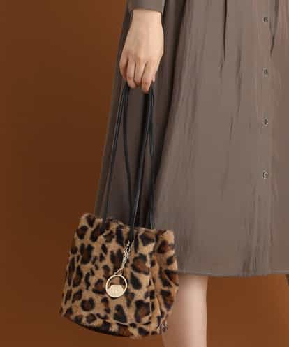 MK MICHEL KLEIN BAG(エムケー ミッシェルクラン バッグ) 【WEB限定】エコファー巾着バッグ ダークブラウン フリーサイズ