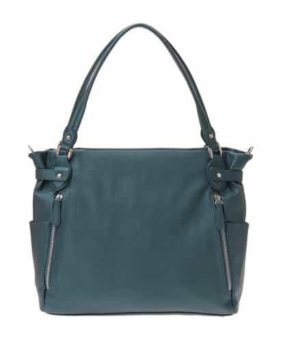 MK MICHEL KLEIN BAG(エムケー ミッシェルクラン バッグ) 【2WAY】スクエアートートバッグ グリーン フリーサイズ