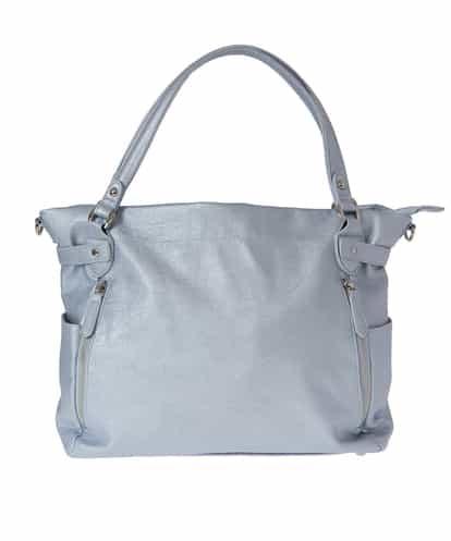 MK MICHEL KLEIN BAG(エムケー ミッシェルクラン バッグ) 【2WAY】フェイクレザートートバッグ ブルー フリーサイズ