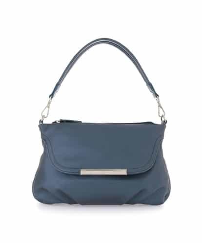 MK MICHEL KLEIN BAG(エムケー ミッシェルクラン バッグ) 【2WAY】フラップポケットショルダーバッグ ブルー フリーサイズ