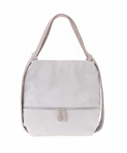 MK MICHEL KLEIN BAG(エムケー ミッシェルクラン バッグ) 【2WAY】デニムプリントショルダーバッグ グレー フリーサイズ