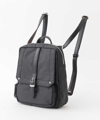 786b729c34e4 【撥水】【2WAY】ベルトデザインリュック ブラック フリーサイズ MK MICHEL KLEIN BAG(エムケー ミッシェルクラン バッグ)  汚れに強い素材で仕立てたバッグ。