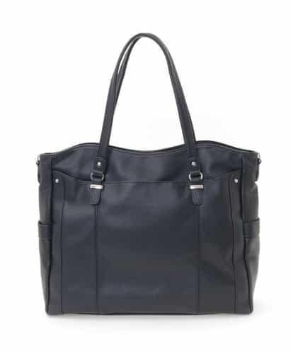 MK MICHEL KLEIN BAG(エムケー ミッシェルクラン バッグ) 【2WAY/B4対応】ビッグスクエアートートバッグ ブラック フリーサイズ