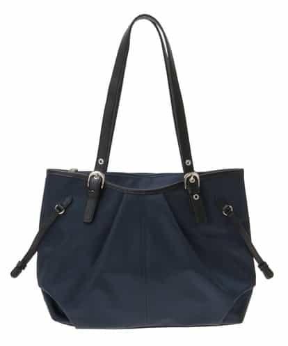 MK MICHEL KLEIN BAG(エムケー ミッシェルクラン バッグ) デザインポケットトートバッグ ネイビー フリーサイズ