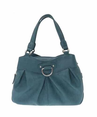 MK MICHEL KLEIN BAG(エムケー ミッシェルクラン バッグ) 【2WAY】シルバーパーツデザインバッグ ネイビー フリーサイズ