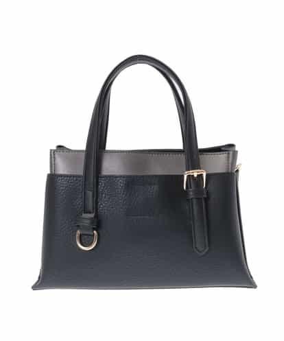 MK MICHEL KLEIN BAG(エムケー ミッシェルクラン バッグ) フェイクレザーミニバッグ ブラック フリーサイズ