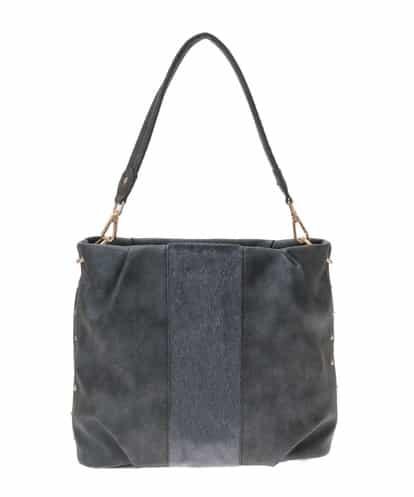 MK MICHEL KLEIN BAG(エムケー ミッシェルクラン バッグ) 【2WAY】エコファー切り替えデザインバッグ グレー フリーサイズ