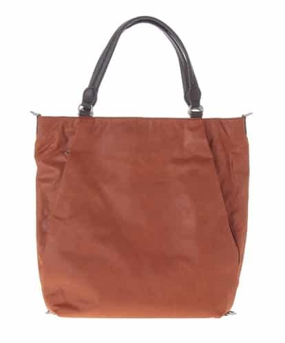 MK MICHEL KLEIN BAG(エムケー ミッシェルクラン バッグ) 【2WAY/撥水/A4対応】ダイヤ型押しマルチウェイバッグ(リュックインバッグ付き) オレンジ フリーサイズ