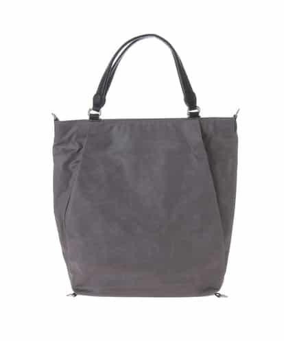 MK MICHEL KLEIN BAG(エムケー ミッシェルクラン バッグ) 【2WAY/撥水/A4対応】ダイヤ型押しマルチウェイバッグ(リュックインバッグ付き) グレー フリーサイズ