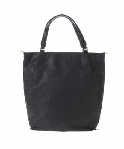 MK MICHEL KLEIN BAG(エムケー ミッシェルクラン バッグ) 【2WAY/撥水/A4対応】ダイヤ型押しマルチウェイバッグ(リュックインバッグ付き) ブラック フリーサイズ