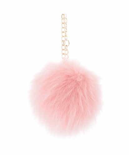 MK MICHEL KLEIN BAG(エムケー ミッシェルクラン バッグ) フォックスファーチャーム ピンク フリーサイズ