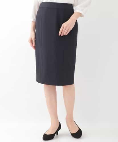 OFUON(オフオン) 【セットアップ可】バックスリットスカート ネイビー 40
