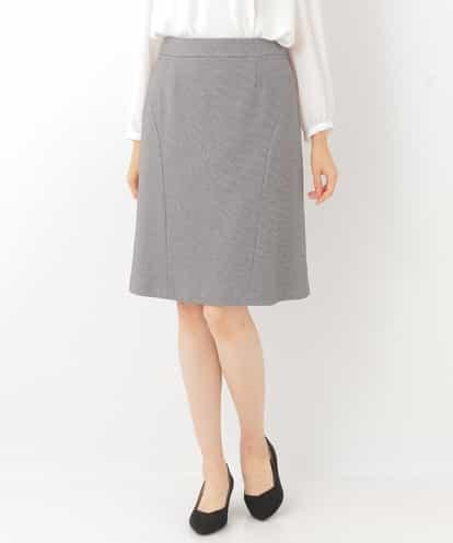 OFUON(オフオン) 切り替えデザインスカート グレー 36
