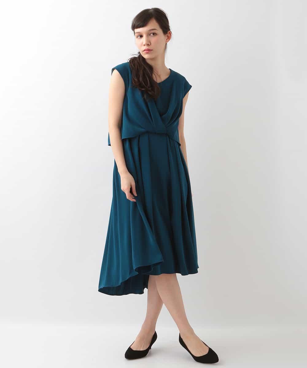 OFUON(オフオン)レイヤード風ワンピースドレス