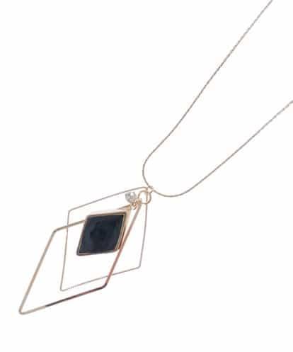 OFUON(オフオン) ダイヤモチーフロングネックレス ゴールド 38