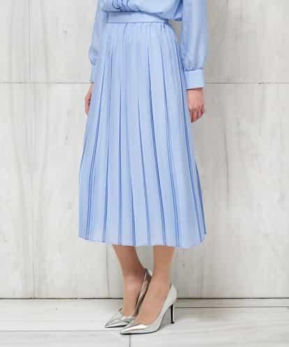 Maison de CINQ(メゾンドサンク) 【セットアップ対応/洗える】ミストロンツイルプリーツスカート(小さいサイズ) ライトブルー 36