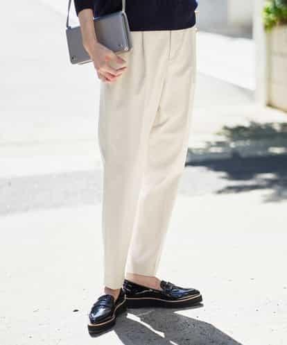 MICHEL KLEIN(ミッシェルクラン) 【洗える】クロップドストレッチテーパードパンツ ライトグレー 36