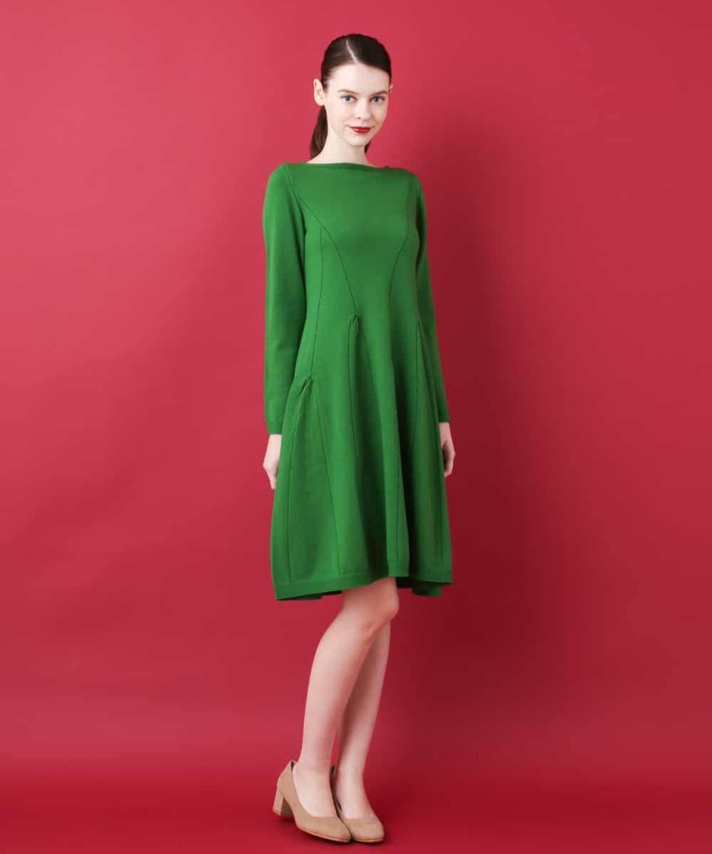 Sybilla(シビラ)デザインミモザニットドレス