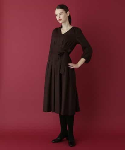 Sybilla(シビラ) ウールVネックドレス ダークブラウン 44