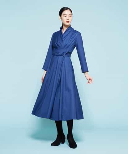 Sybilla(シビラ) ラップデザインワンピース ブルー 40