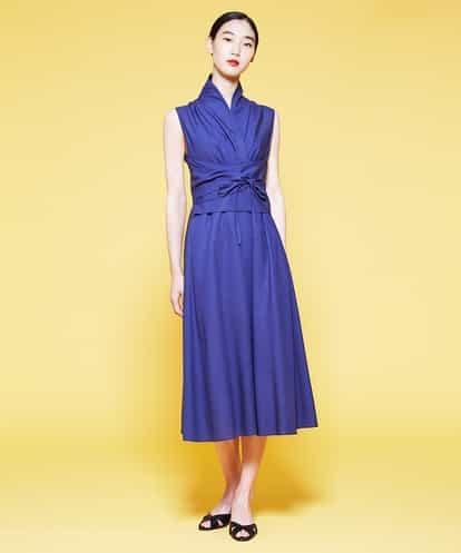 Sybilla(シビラ) ●BARFOUT! 4月号掲載● ウエストマークドレス ブルー 36