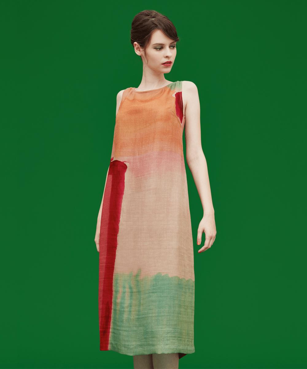 Sybilla(シビラ) デザイン染めドレス ピンク 44