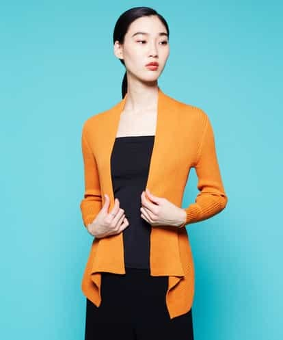 Sybilla(シビラ) デザインヘムニットジャケット オレンジ 40