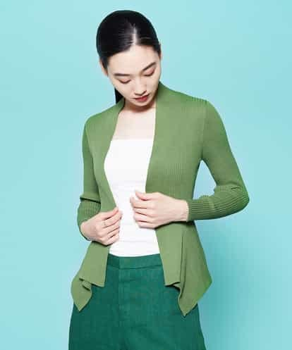 Sybilla(シビラ) デザインヘムニットジャケット グリーン 40
