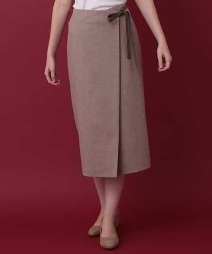 Sybilla(シビラ) 先染めタイトスカート キャメル 42