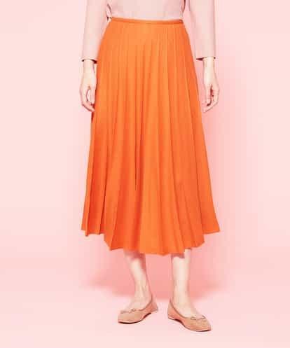 Sybilla(シビラ) ウールガーゼプリーツスカート オレンジ 40