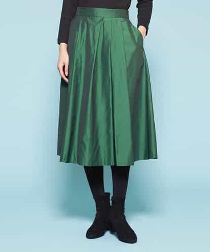 Sybilla(シビラ) タフタタックスカート グリーン 36