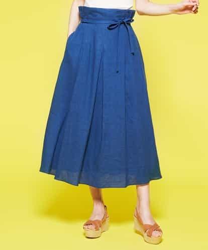 Sybilla(シビラ) フレンチリネンワッシャースカート ブルー 42