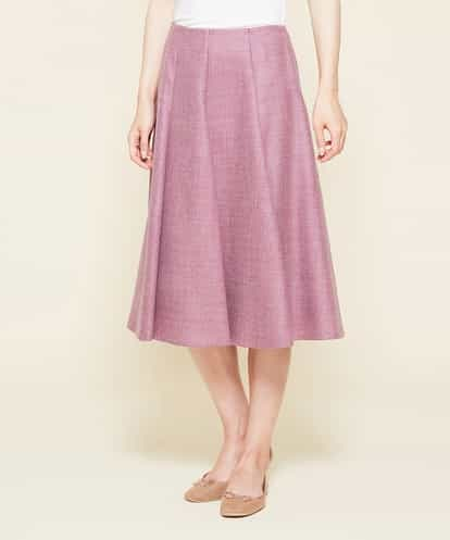Sybilla(シビラ) アドリア−ナウール切り替えデザインスカート パープル 40