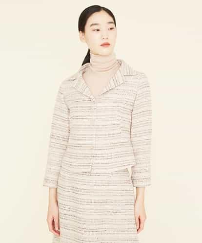 Sybilla(シビラ) ウールツイードデザインショートジャケット ベージュ 36