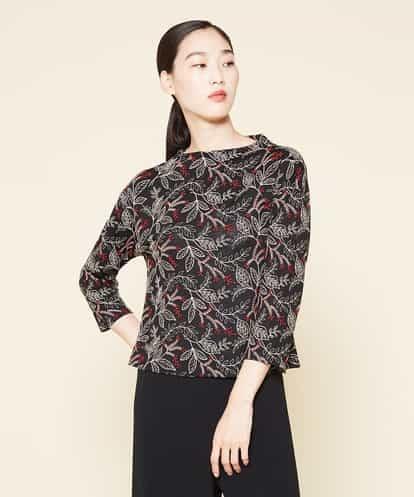 Sybilla(シビラ) ボタニカル刺繍カットソー ブラック 36
