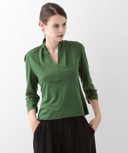 Sybilla(シビラ) デザインカラー7分袖カットソー グリーン 40