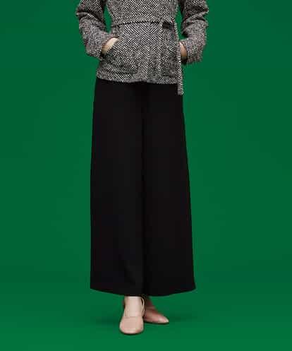 Sybilla(シビラ) サイドプリーツワイドパンツ ブラック 42