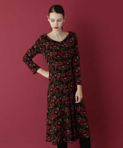 Sybilla(シビラ) フラワー刺繍ドレス ブラック 36