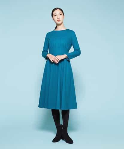 Sybilla(シビラ) タックギャザーデザインワンピース ブルー 36