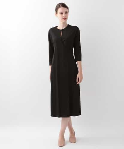 Sybilla(シビラ) デザインジャージードレス ブラック 40